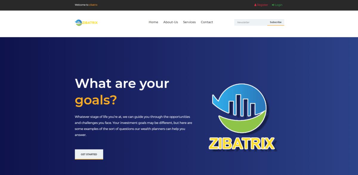 zibatrix scam home page