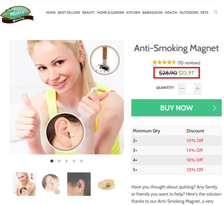 mintymocha scam magnet fake price