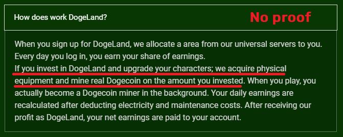 dogeland scam mining equipment lies