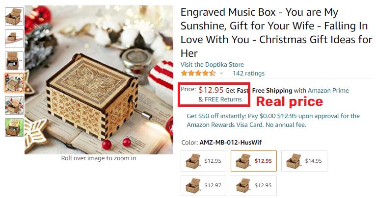 music box real price amazon