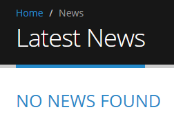 blank news page