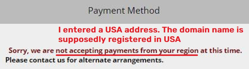 fake payment information