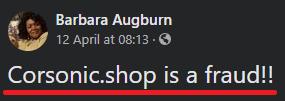 Corsonic Shop scam review