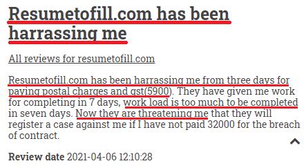 resumetofil scam review 2