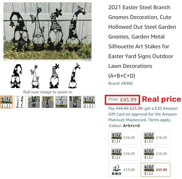 garden gnomes real price amazon
