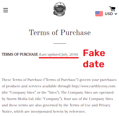 earthlycosy scam fake date