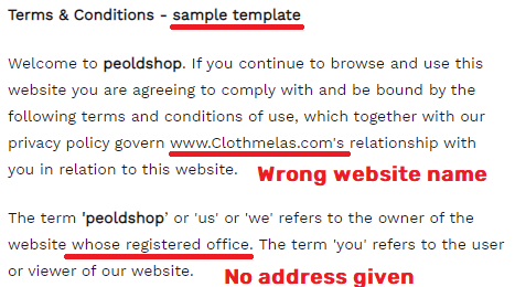 peoldshop scam fake terms and conditions