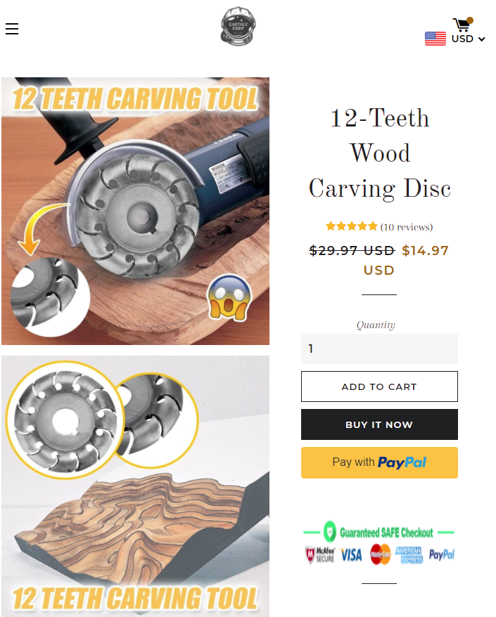 earthlycosy scam carving disk