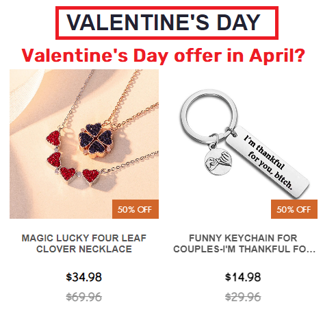 shemby scam valentine's day sale in april