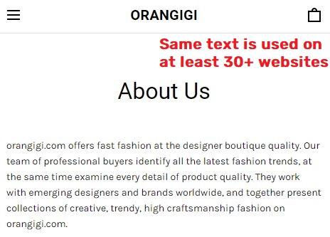 orangigi scam about us page