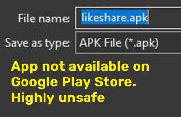 okshare scam likeshare apk