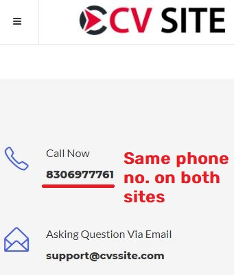 cvssite scam fake phone number