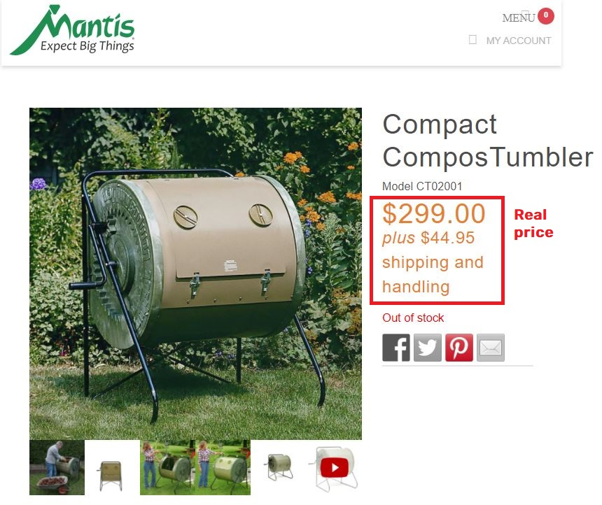 mantis composter real price