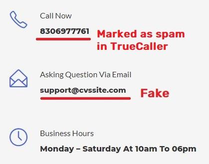 cvssite jobsvita scam fake contact details