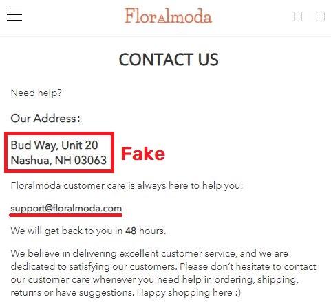 floralmoda scam contact details