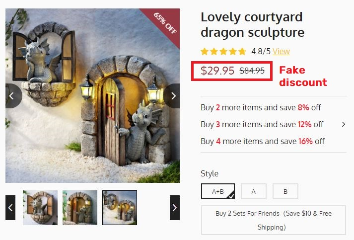 plastictoyr scam dragon statue fake price