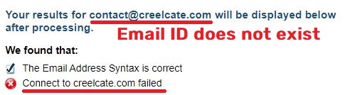 creelcate scam fake email address