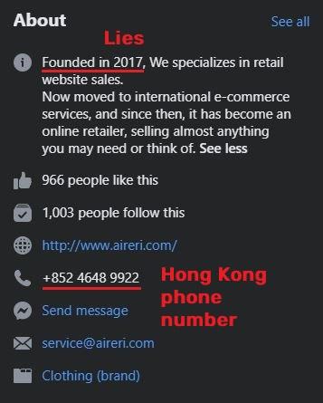 aireri scam fake information facebook