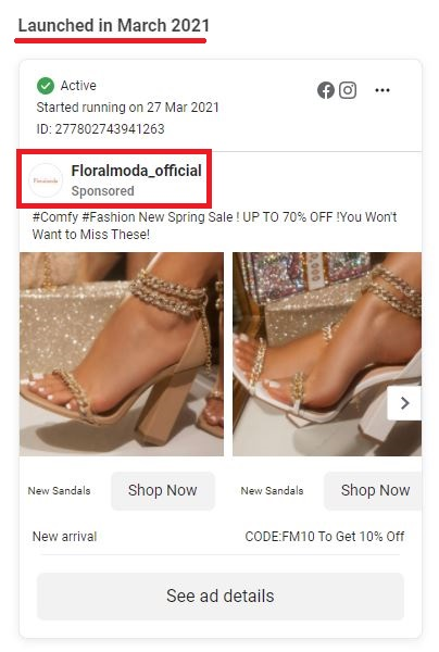 floralmoda scam facebook ads
