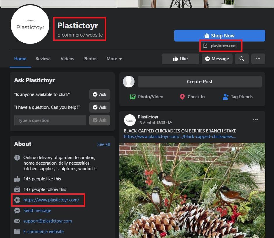 plastictoyr scam facebook page