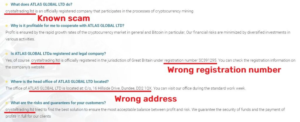 atlas-global scam faqs page