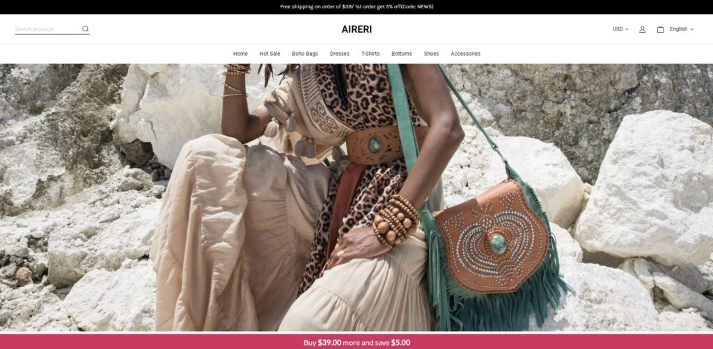aireri scam home page