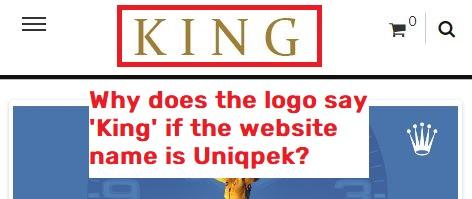 uniqpek scam fake logo