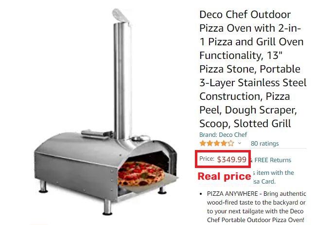 pizza oven real price amazon