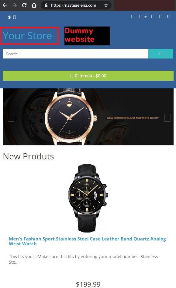 Nasteaelena scam dummy website