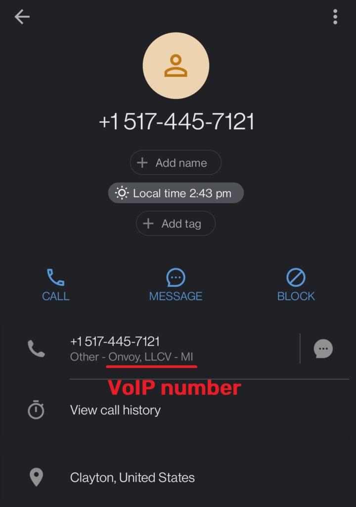 creelcate scam fake phone number