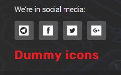 dummy social media icons