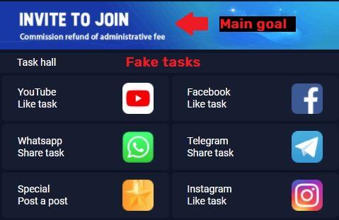 okshare scam fake tasks