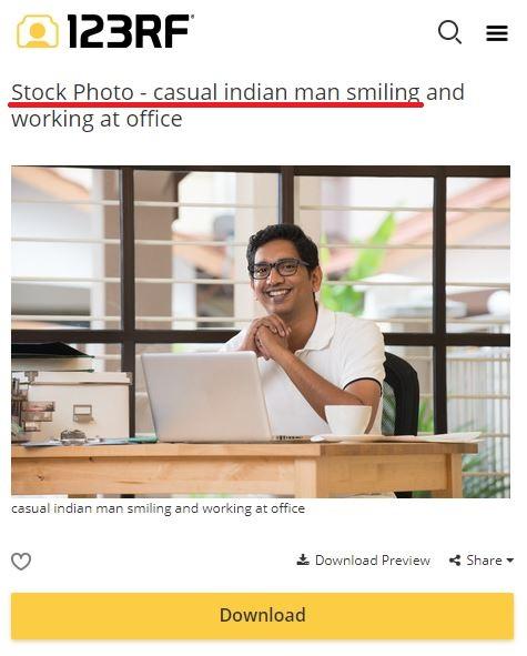 stock image smiling Indian man