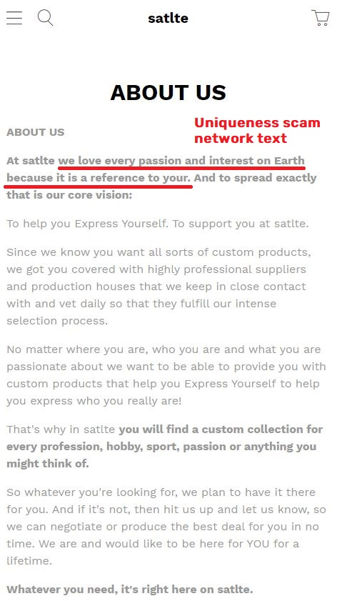 satlte scam about us page