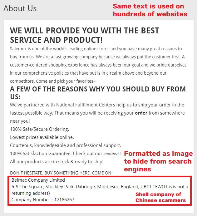 salemox scam beimac company limited about us page