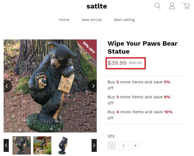 satlte scam beat statue