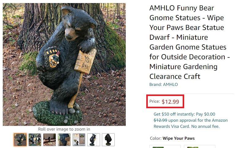 amazon bear statue
