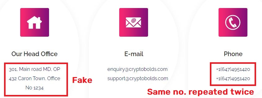 cryptobolds scam fake contact details 2