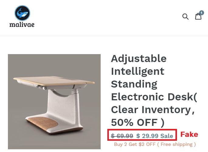 Malivae scam adjustable electronic desk