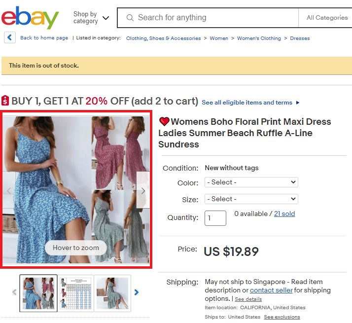 ebay floral boho dress