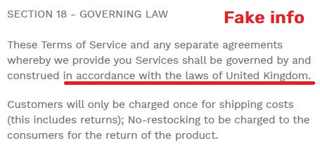 t&c governing law uk