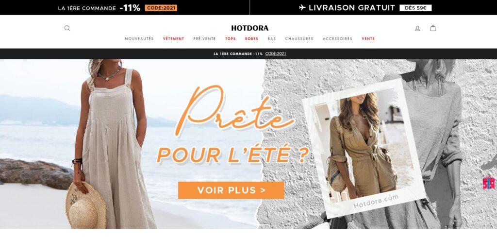 hotdora scam home page