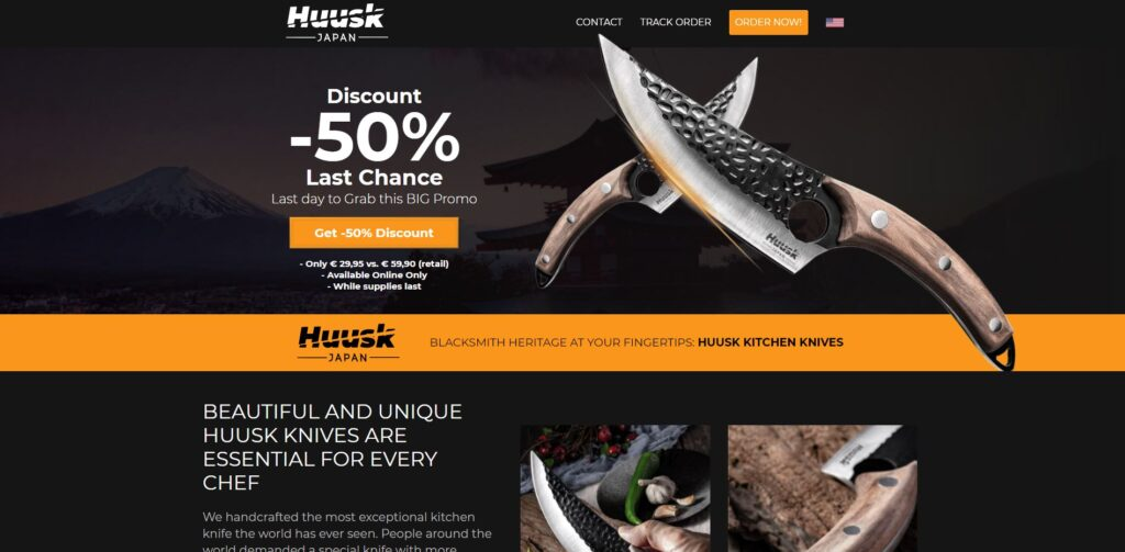 huusk scam home page