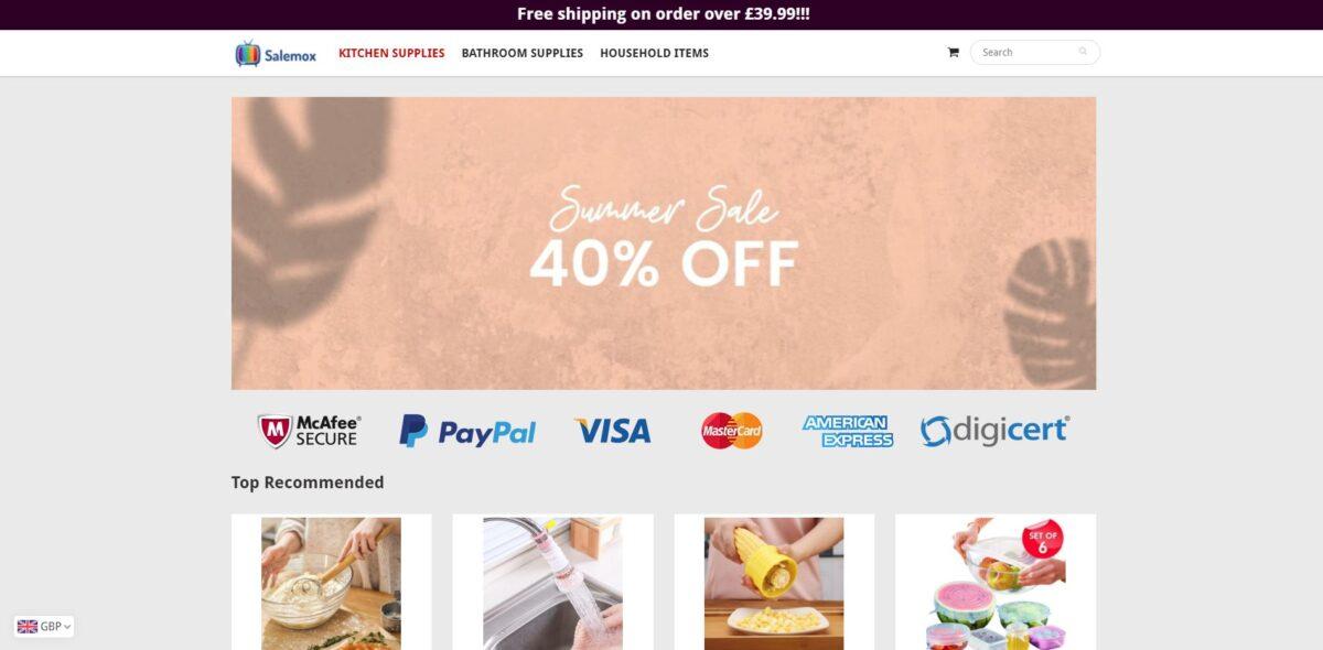 salemox scam home page