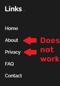 missing privacy policy