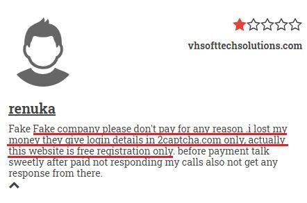 VHSoftTechSolutions scam review 1