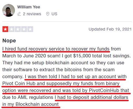 pivotcoinhub scam review 2