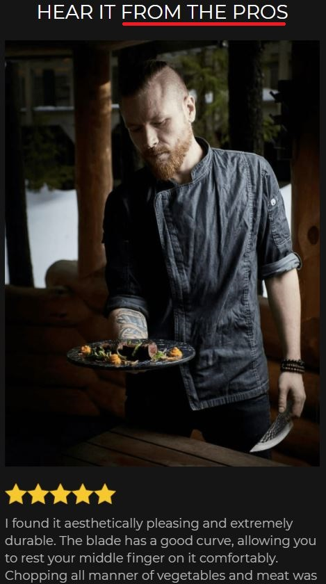 huusk scam fake chef testimonial 1