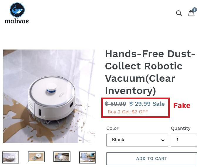 Malivae scam robotic vaccum