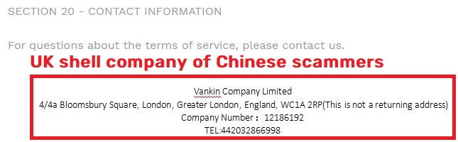 satlte scam vankin company limited